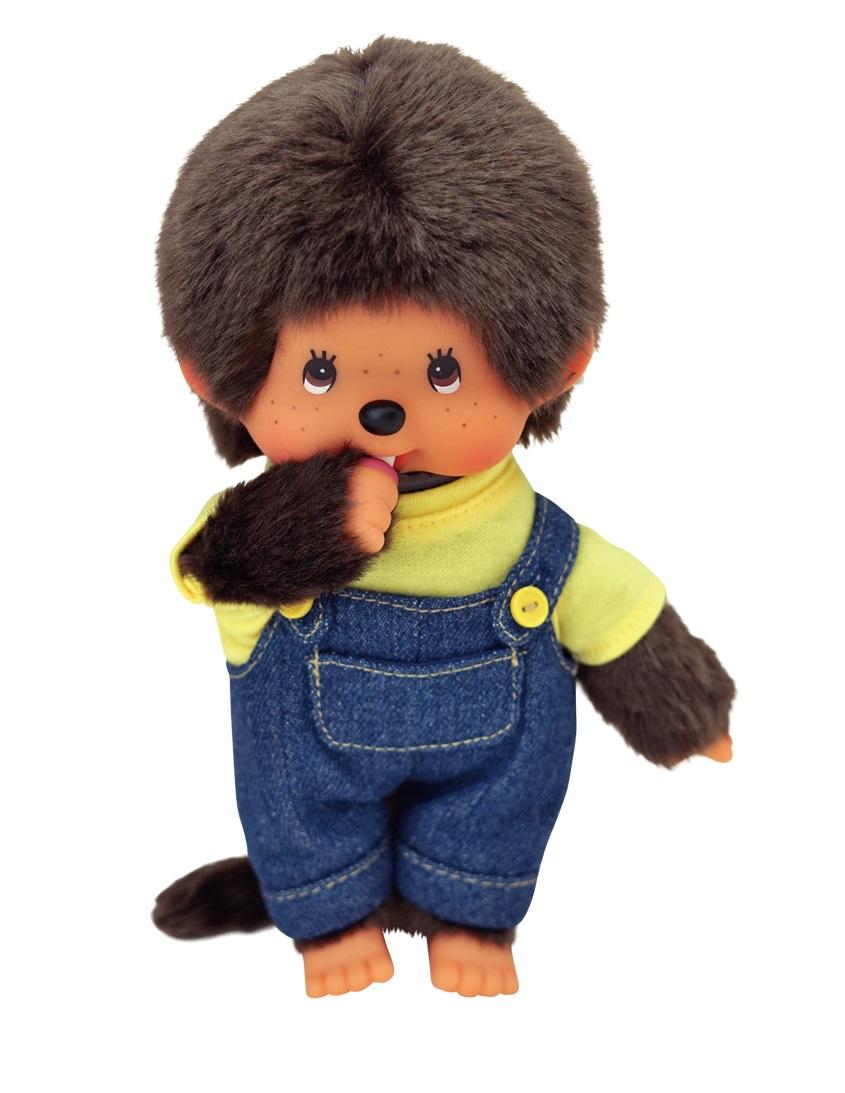 Мягкая игрушка – Мончичи, 20 см мальчик в комбинезоне и желтой футболке по цене 2 100