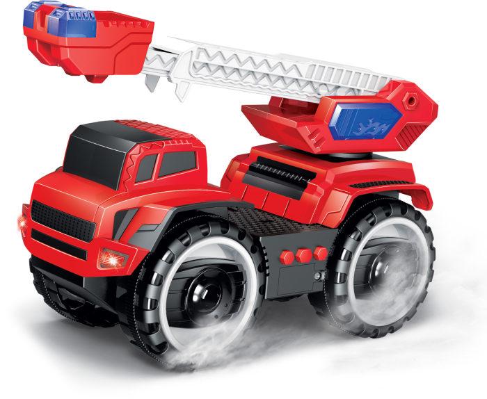 Купить Машинка из серии Экстренные службы - Подъемник пожарный фрикционный, 20 см, свет, звук, 1TOY