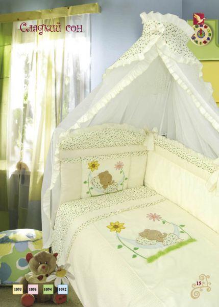 Комплект в кроватку – Сладкий сон, 7 предметов, бежевый фото