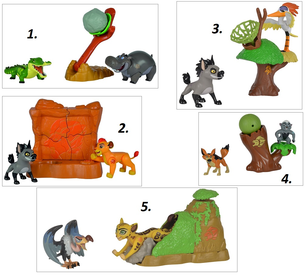 Набор из серии Хранитель Лев: 2 фигурки и подвижный аксессуар, 7-8 см., 5 видовКороль Лев (Хранитель Лев) Lion King<br>Набор из серии Хранитель Лев: 2 фигурки и подвижный аксессуар, 7-8 см., 5 видов<br>