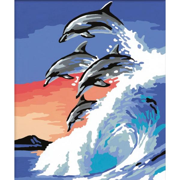 Раскрашивание по номерам ДельфиныРаскраски по номерам Schipper<br>Раскрашивание по номерам Дельфины<br>