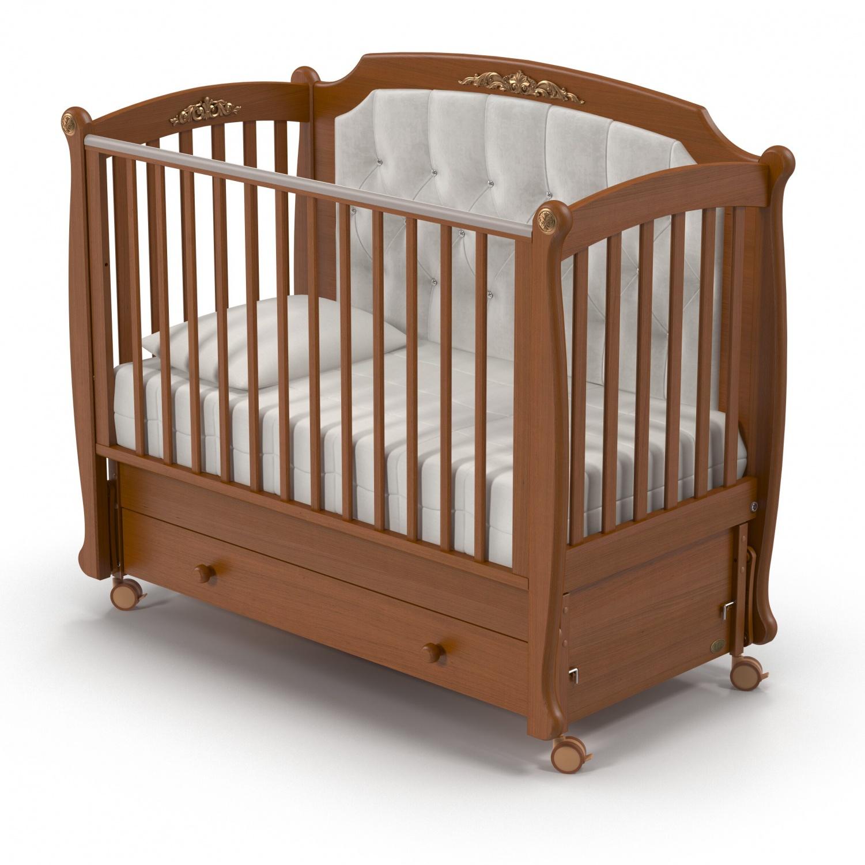 Купить Детская кровать Nuovita Furore Swing продольный, noce scuro/темный орех