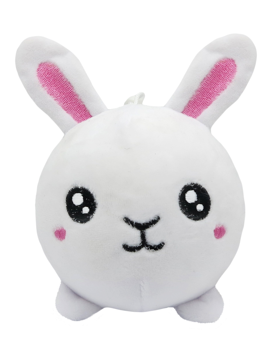 Мягкая игрушка антистресс – Зайчик, белая, 10 см фото