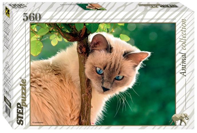 Пазл Синеглазая красавица. Кошка. 560 элементовПазлы 500 элементов<br>Пазл Синеглазая красавица. Кошка. 560 элементов<br>