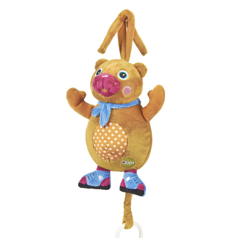 Игрушка-подвеска музыкальная МедвежонокДетские погремушки и подвесные игрушки на кроватку<br>Игрушка-подвеска музыкальная Медвежонок<br>