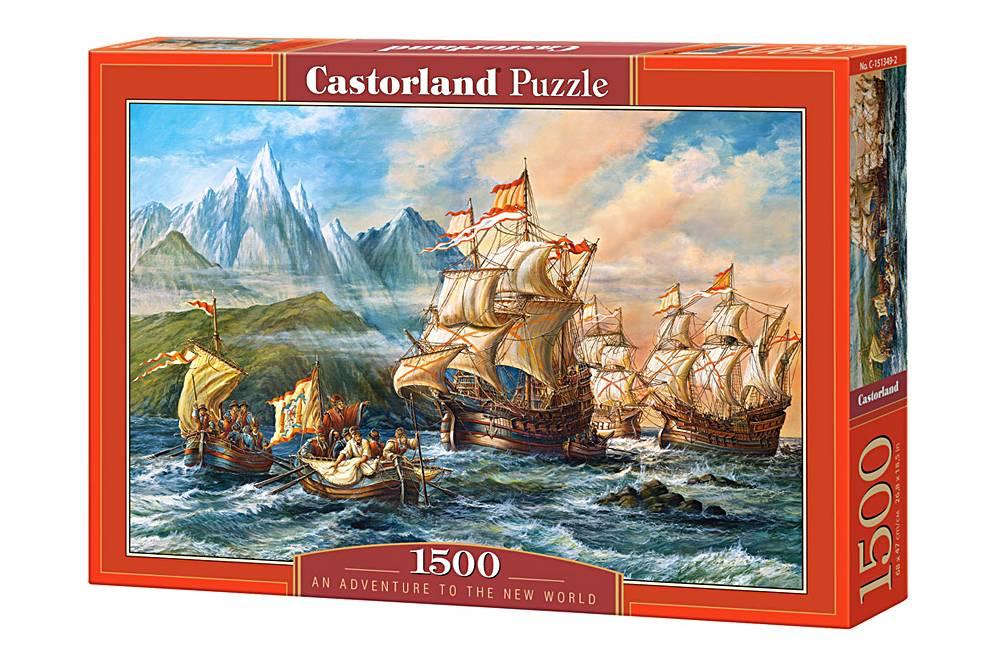 Пазл Castorland 1500 деталей Приключения в Новом СветеПазлы<br>Пазл Castorland 1500 деталей Приключения в Новом Свете<br>