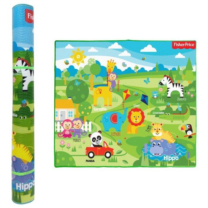 Купить Коврик игровой из серии Fisher Price для малышей, размер 150 х 180 х 1 см., тубус, 1TOY