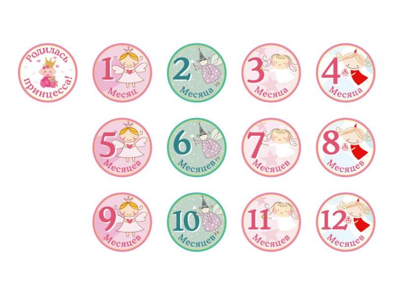 Набор стикеров для девочек Stickn Click - ПринцесскиНаклейки<br>Набор стикеров для девочек Stickn Click - Принцесски<br>