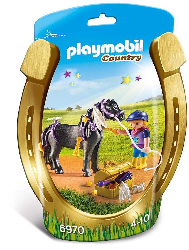 Купить Игровой набор из серии - Ферма пони: Конюх с пони Звездочка, Playmobil