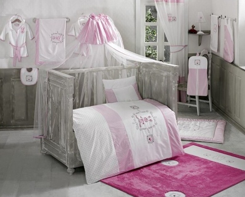 Комплект из 6 предметов – Rabitto, pink - Спальня, артикул: 171447