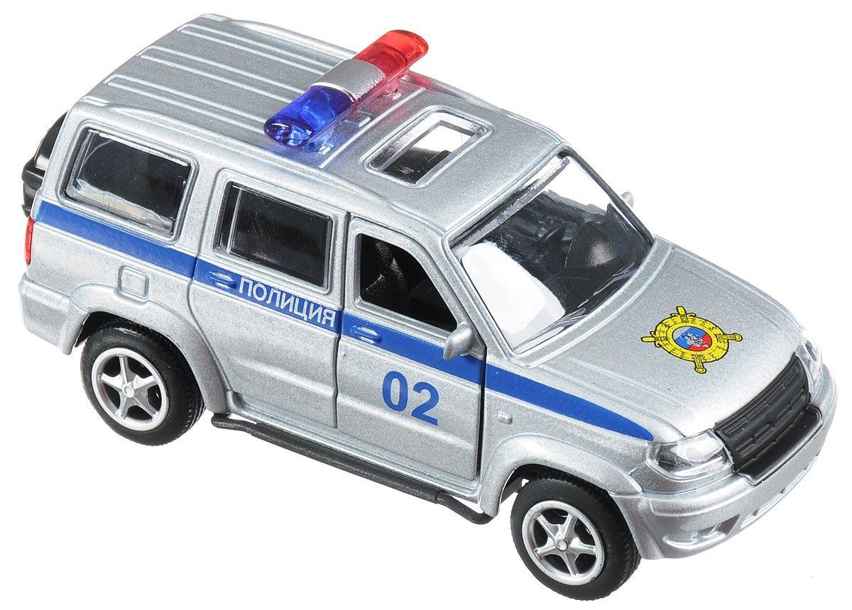 Купить Машина металлическая инерционная - Уаз Патриот – Полиция, Технопарк