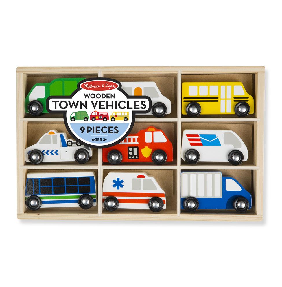 Купить Набор из серии - Деревянные игрушки - Городской транспорт, Melissa&Doug