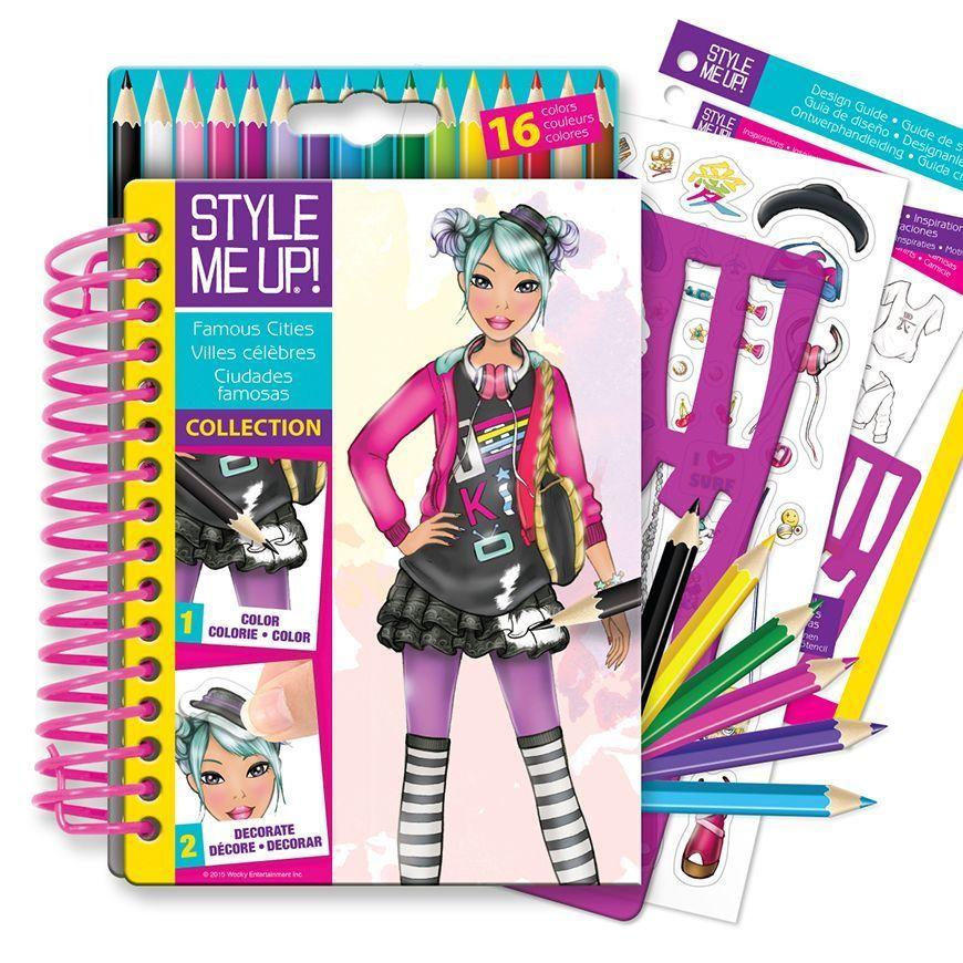 Блокнот дизайнера - Модные города мира, с трафаретами и карандашамиКниги для детского творчества<br>Блокнот дизайнера - Модные города мира, с трафаретами и карандашами<br>