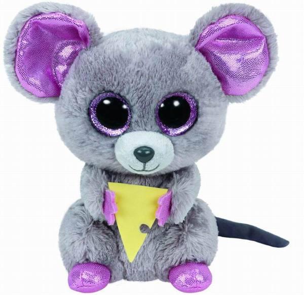 Купить Мягкая игрушка из серии Beanie Boo's Мышонок Squeaker с кусочком сыра, 15 см, TY