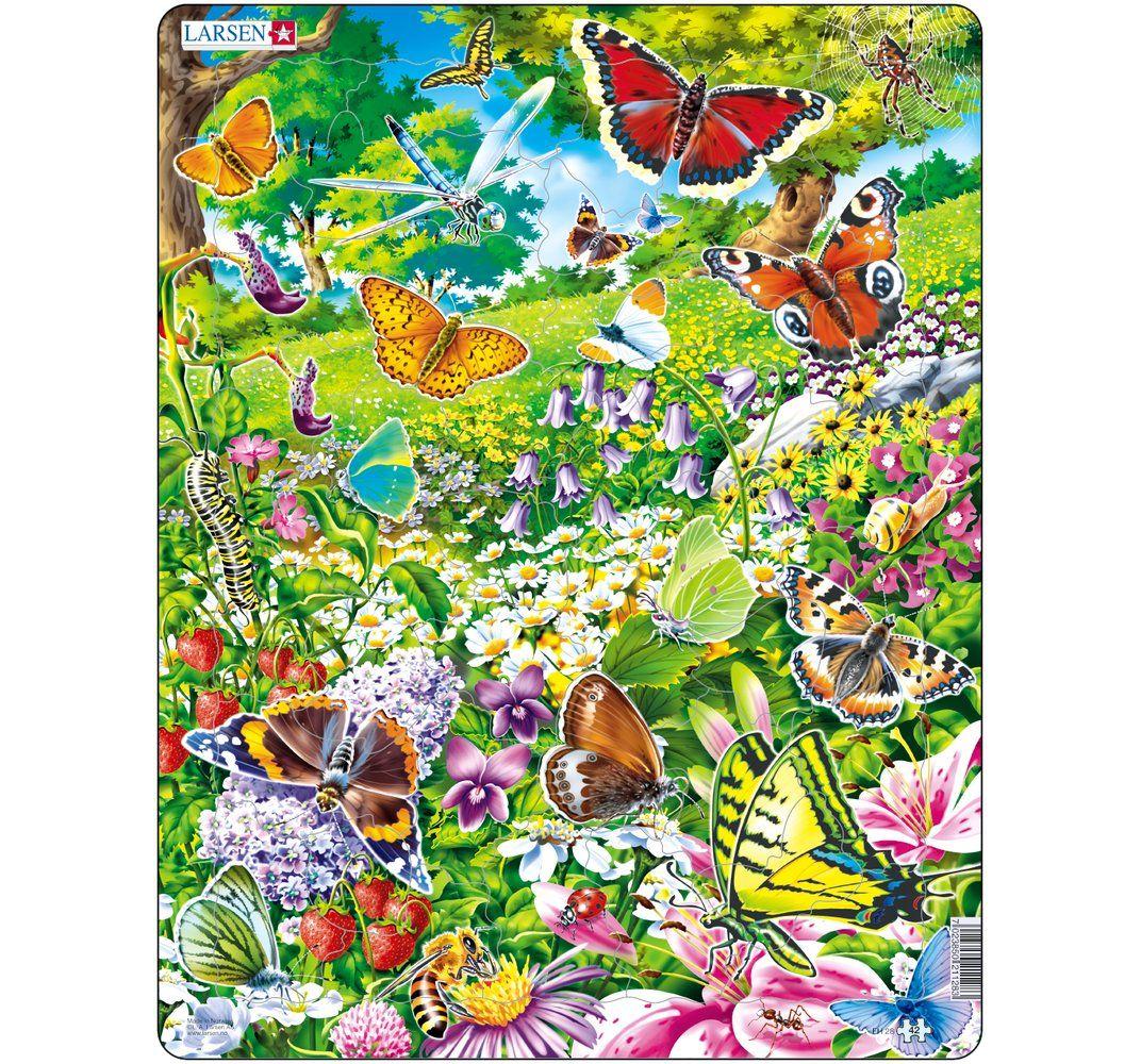 Пазл – Бабочки, 42 элемента