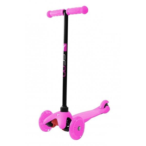 Трехколесный самокат со светящимися колесами RT MINI SHINE A5 pink, 4527RTТрехколесные самокаты<br>Трехколесный самокат со светящимися колесами RT MINI SHINE A5 pink, 4527RT<br>