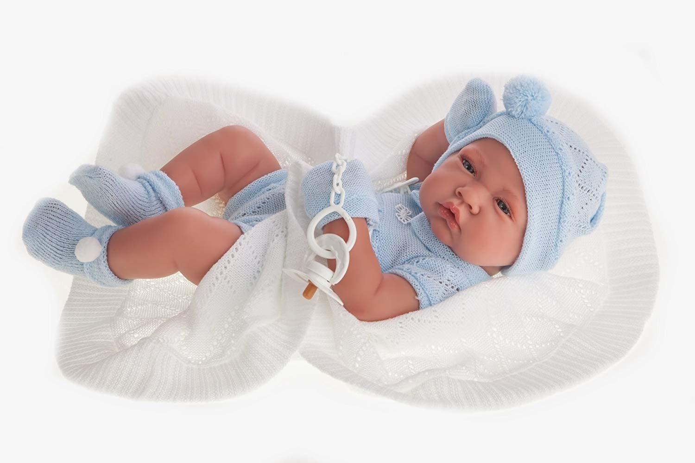 Купить Кукла-младенец Тони в голубом, 42 см., Antonio Juan Munecas