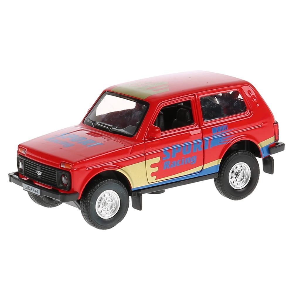 Купить со скидкой Металлическая инерционная машина – Lada 4x4 Спорт, 12 см, открывающиеся двери и багажник