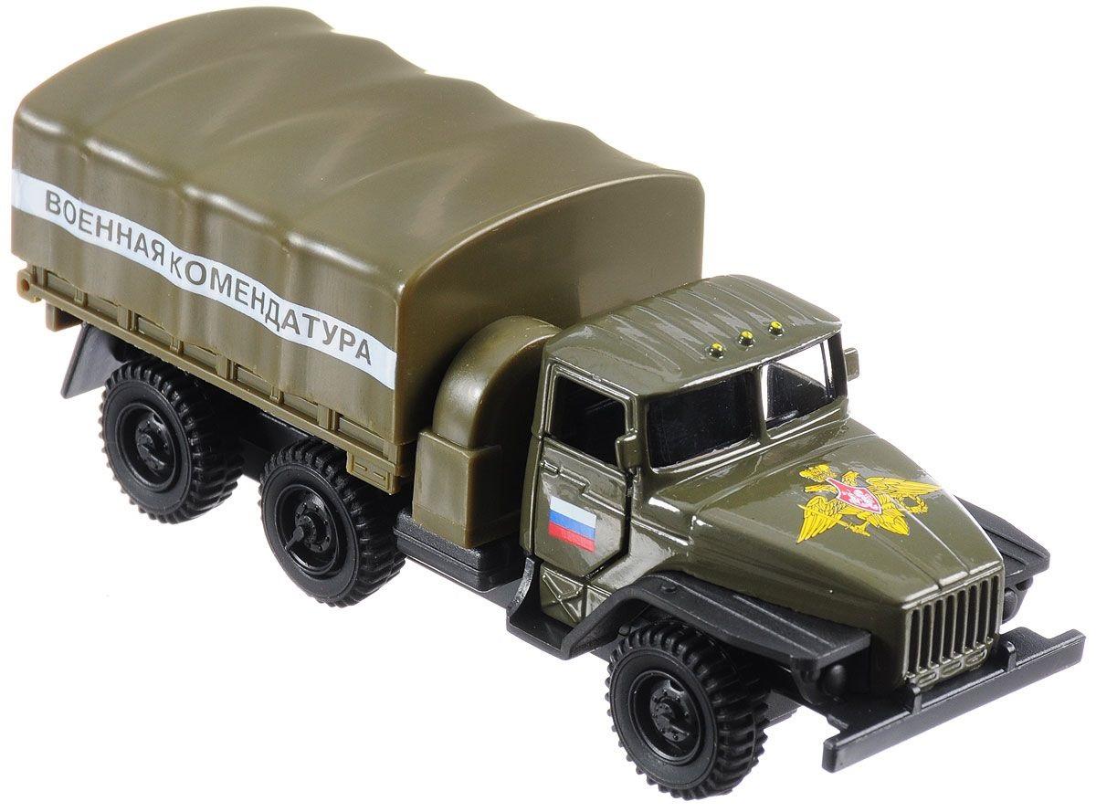 Купить Машина металлическая инерционная – Урал - Военная Комендатура, 12 см, Технопарк
