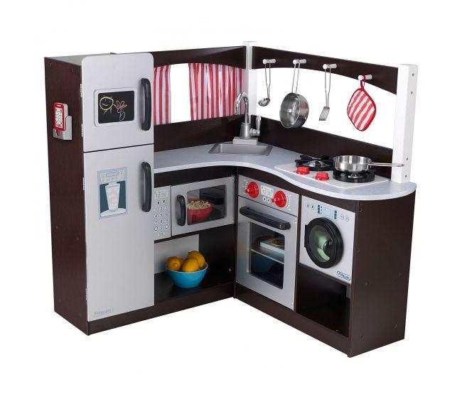 Купить Большая угловая кухня - Эспрессо, KidKraft
