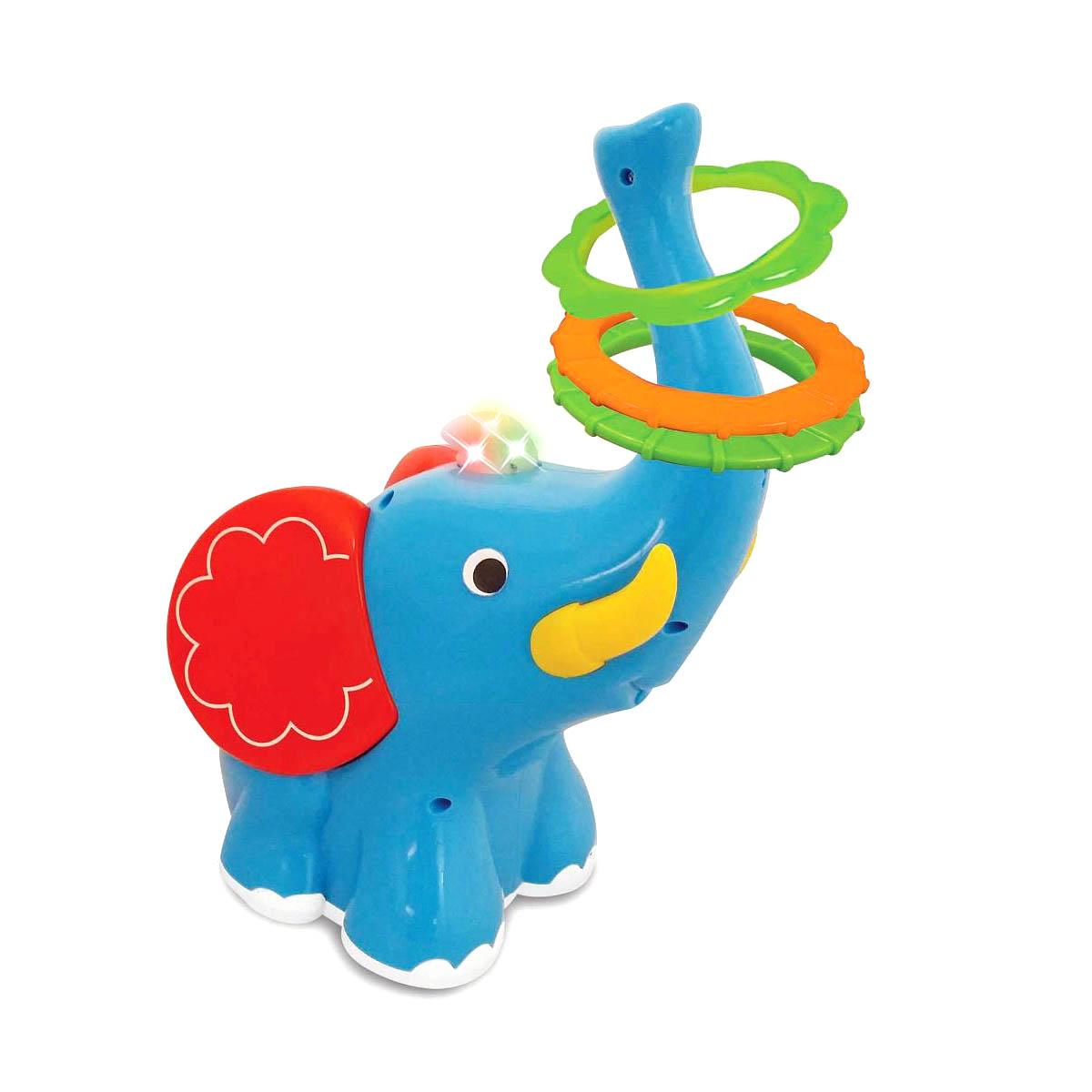 Развивающая игрушка - Слон-кольцебросРазвивающие игрушки KIDDIELAND<br>Развивающая игрушка - Слон-кольцеброс<br>