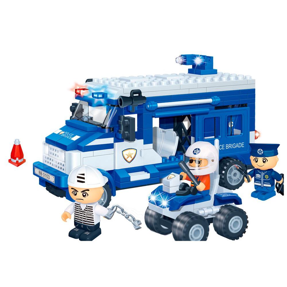 Купить Конструктор Полицейская команда, 250 деталей, BanBao