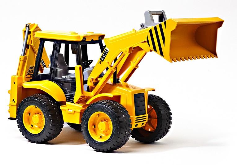 Экскаватор – погрузчик колёсный Bruder JCB 4CXПогрузчики Bruder<br>Экскаватор – погрузчик колёсный Bruder JCB 4CX<br>