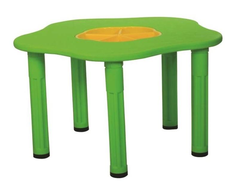 Купить Детский столик Сэнди, с системой хранения мелочей, зеленый, King Kids