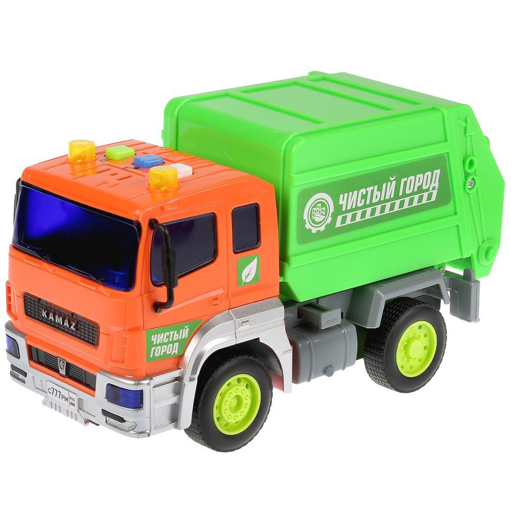 Купить Камаз-мусоровоз, 17 см, инерционный, свет и звук, Технопарк