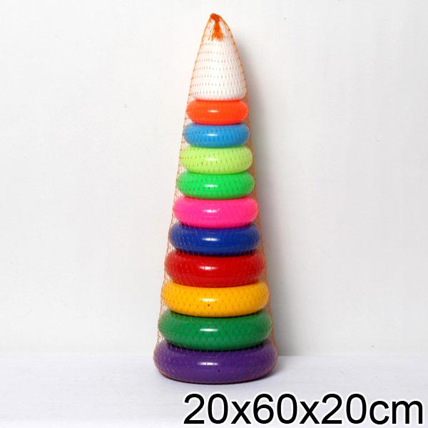 Развивающая игрушка Пирамида – Гигант, 60 см.Сортеры, пирамидки<br>Развивающая игрушка Пирамида – Гигант, 60 см.<br>