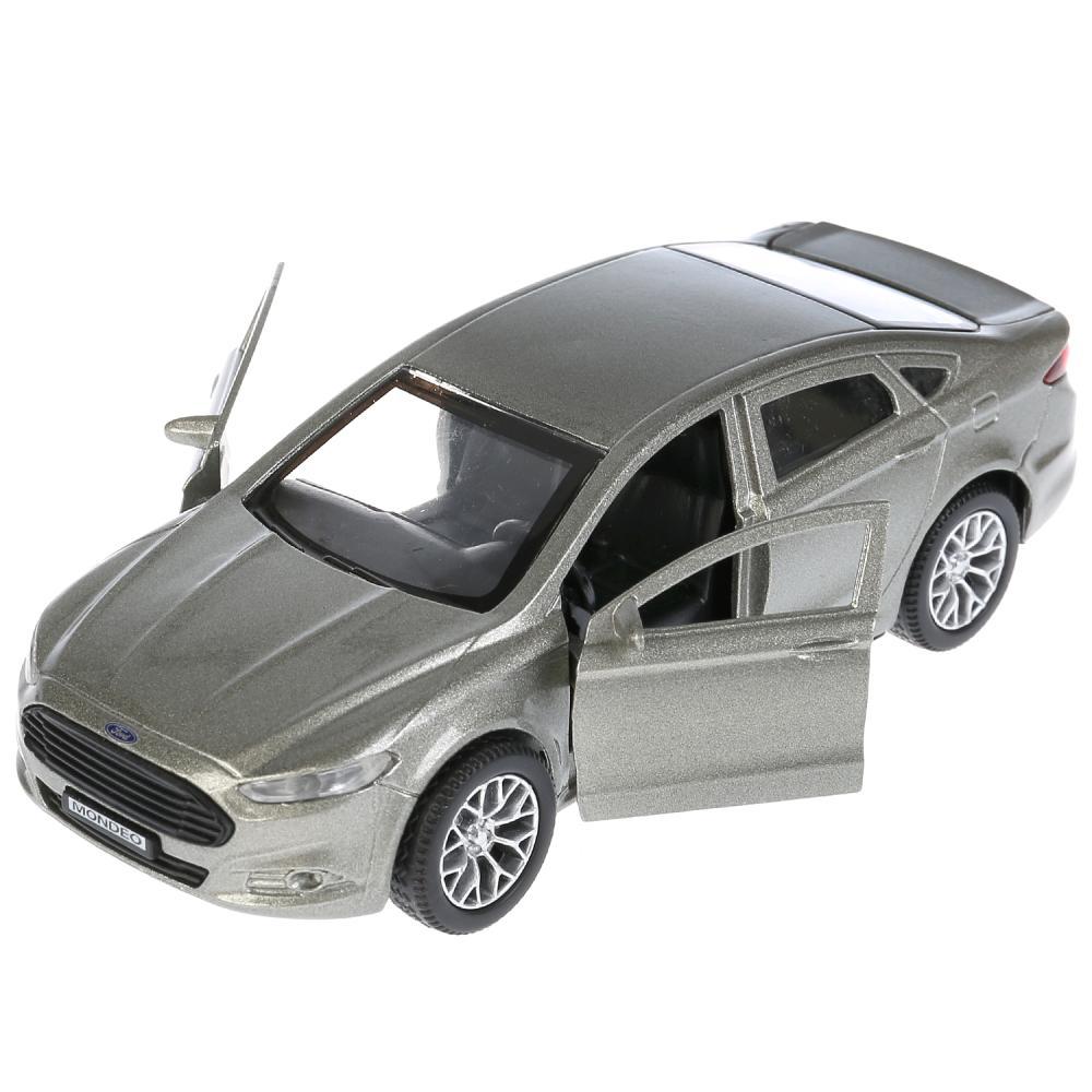 Купить Машина инерционная металлическая - Ford Mondeo, 12 см, цвет серый открываются двери и багажник, Технопарк