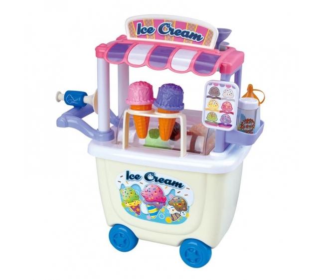 Набор с пластилином - Тележка с мороженымНаборы для лепки<br>Набор с пластилином - Тележка с мороженым<br>