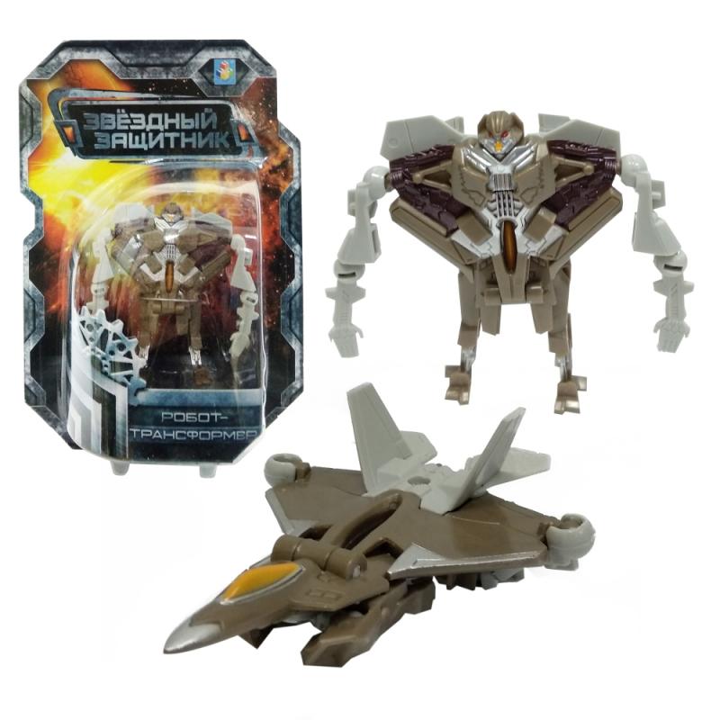 Робот-трансформер – Звездный защитник, 9 см, собирается в истребитель