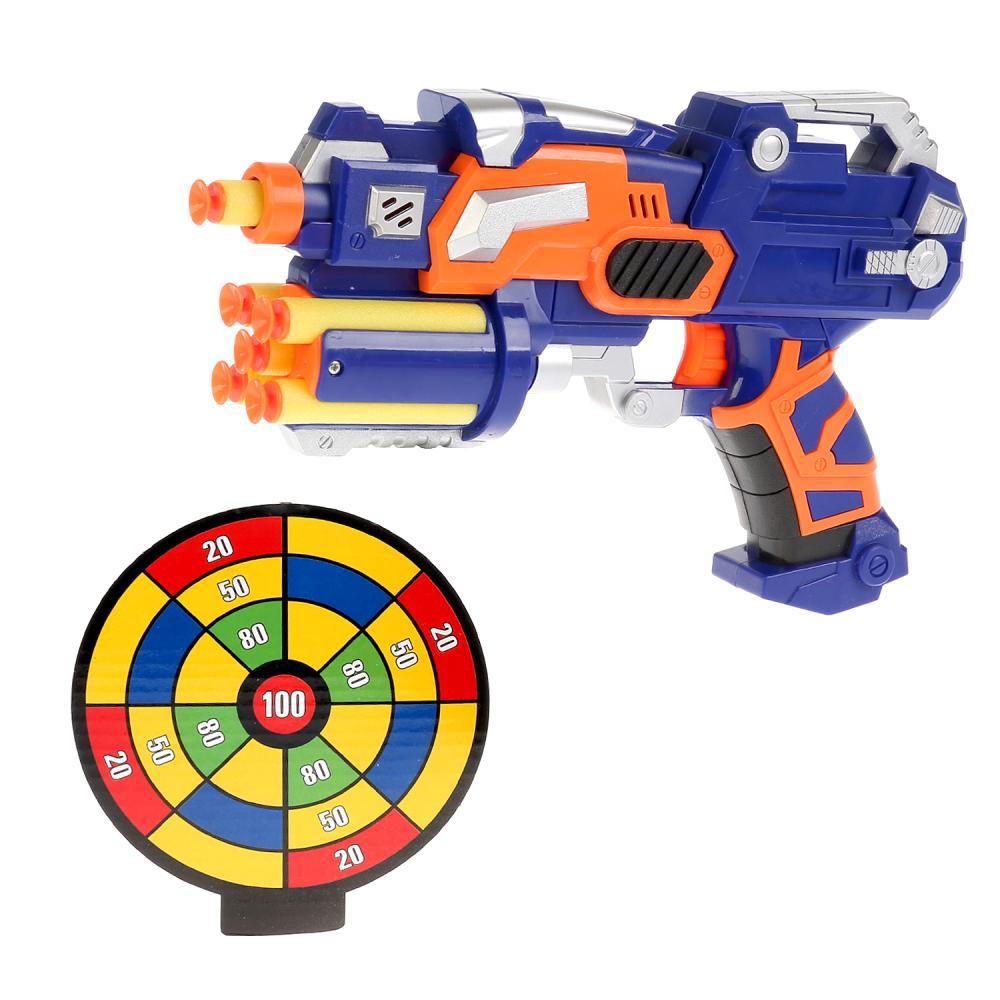 Купить Бластер стреляет мягкими пулями на присосках, Играем вместе