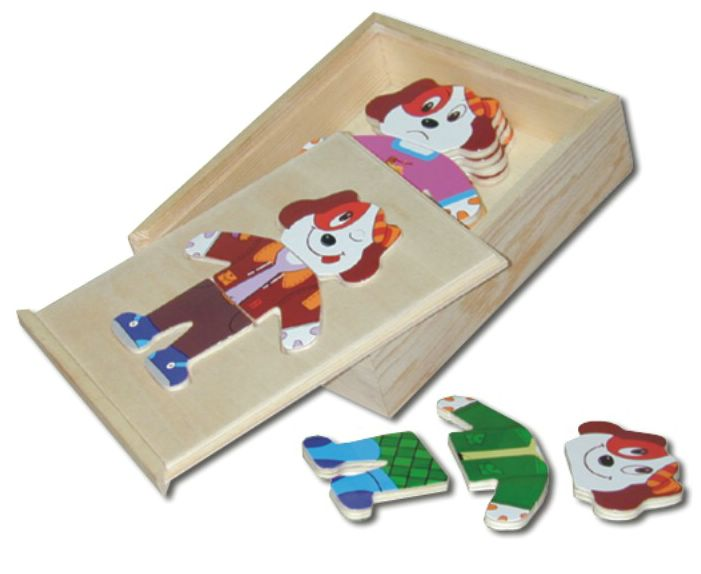 Деревянный пазл в рамке  Собаки - Деревянные игрушки, артикул: 84036