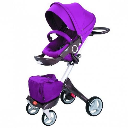 Детская коляска 2 в 1 - Nuovita Sogno, фиолетовая