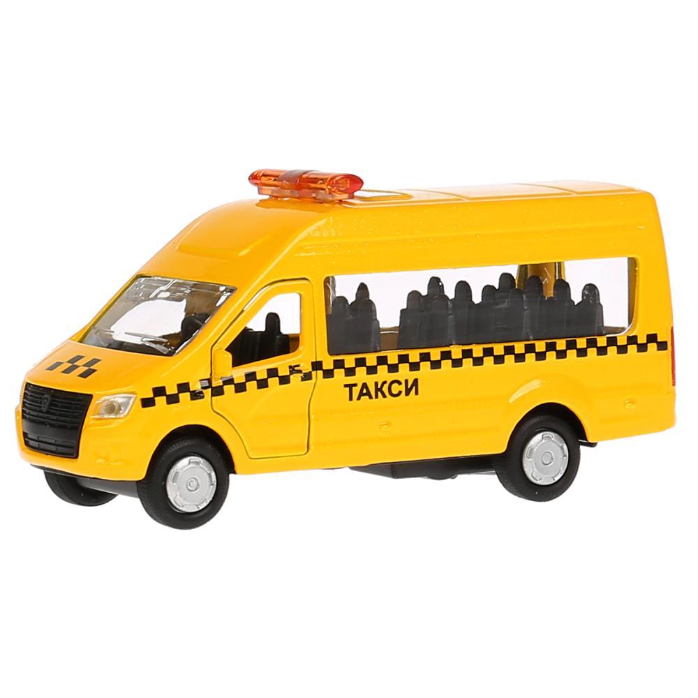 Купить Машина инерционная металлическая ГАЗ Газель Next - Такси 12 см, открываются двери, Технопарк