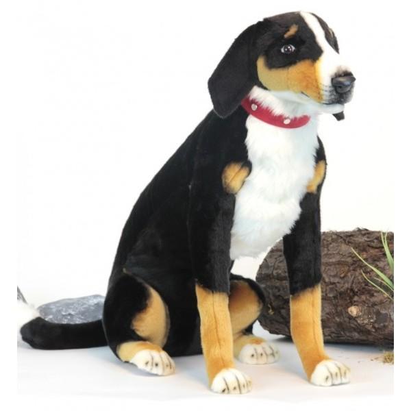 Мягкая игрушка - Собака Аппенцеллер сидящий, 66 см.Большие игрушки (от 50 см)<br>Мягкая игрушка - Собака Аппенцеллер сидящий, 66 см.<br>