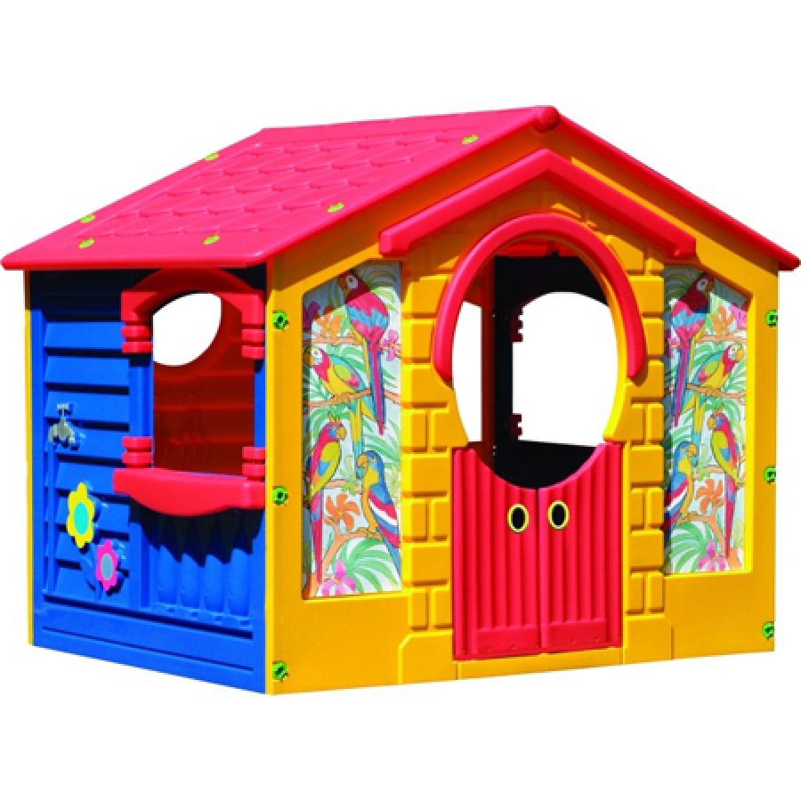 Детский пластиковый домик  Коттедж Marian Plast 560 - Пластиковые домики для дачи, артикул: 161035