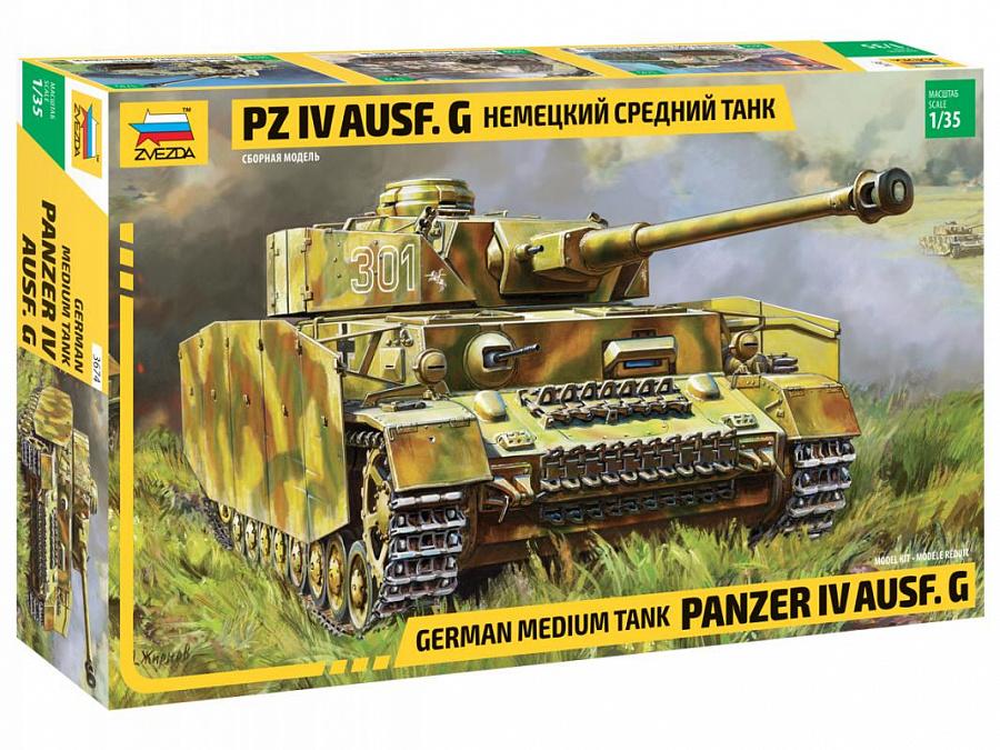Купить Модель сборная - Немецкий средний танк Pz IV Ausf. G, ZVEZDA