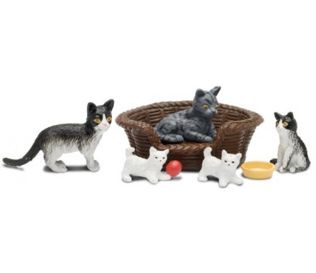Купить Набор для кукольного домика Смоланд - Кошачья семья, Lundby