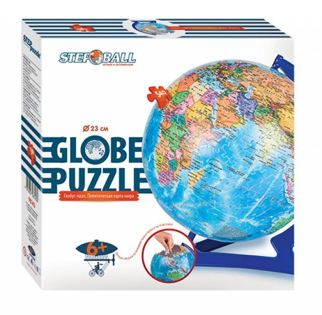 Пазл-шар – Глобус с политической картой мира, 540 элементовПазлы объёмные 3D<br>Пазл-шар – Глобус с политической картой мира, 540 элементов<br>
