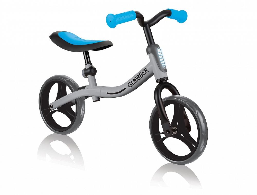 Купить Беговел Go Bike, серо-голубой, Globber