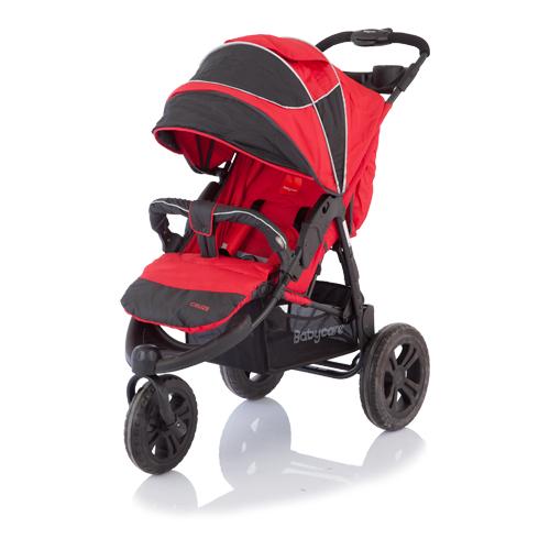 Коляска прогулочная Jogger Cruze, redДетские коляски Capella Jetem, Baby Care<br>Коляска прогулочная Jogger Cruze, red<br>