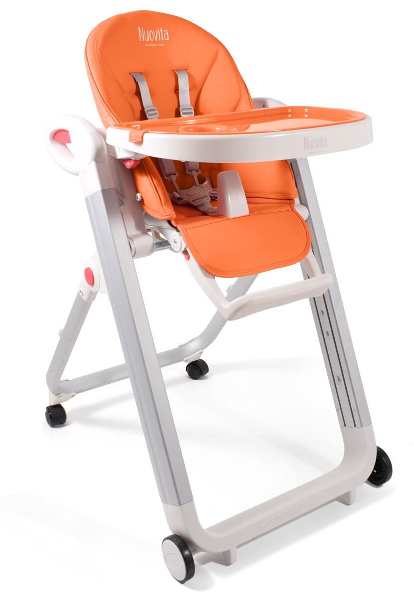 Стульчик для кормления Nuovita Futuro Bianco, Arancione/ОранжевыйСтульчики для кормления<br>Стульчик для кормления Nuovita Futuro Bianco, Arancione/Оранжевый<br>