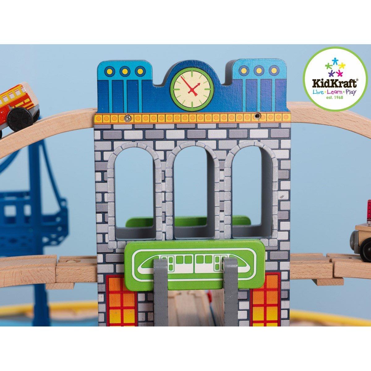 KidKraft Деревянная железная дорога Наш город,со столом с 3 лет
