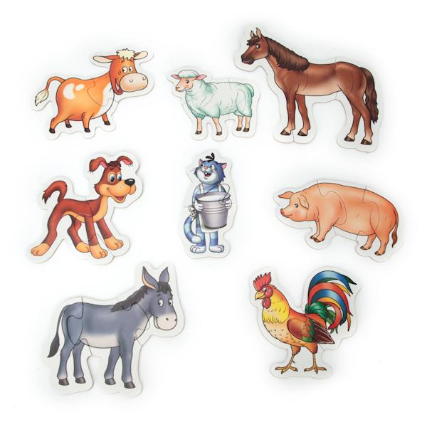 Макси-пазлы – Животные в ПростоквашиноПазлы для малышей<br>Макси-пазлы – Животные в Простоквашино<br>