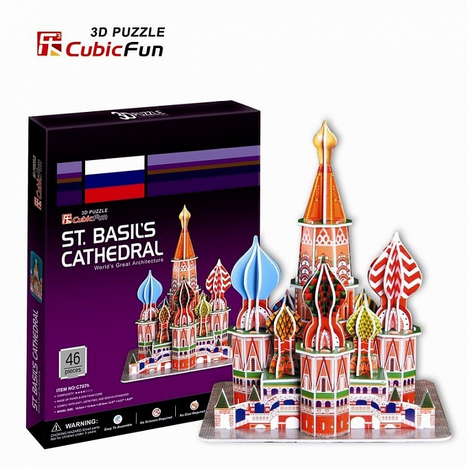 3D puzzles. Объёмные пазлы. Москва, Собор Василия БлаженногоПазлы объёмные 3D<br>3D puzzles. Объёмные пазлы. Москва, Собор Василия Блаженного<br>