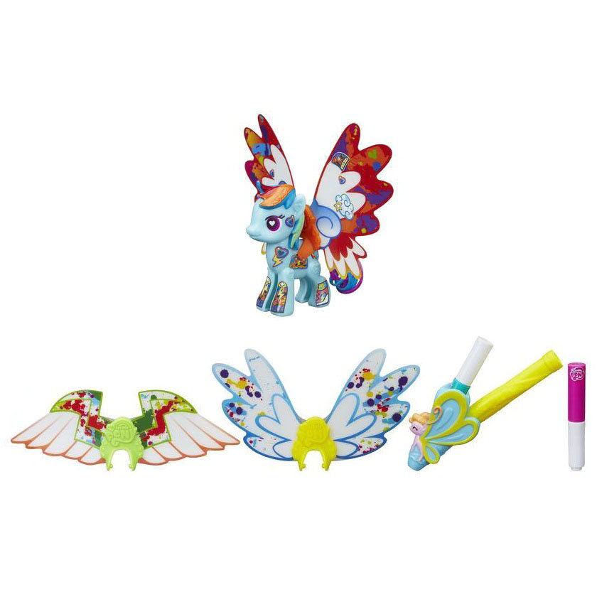 Pop-конструктор Создай свою пони - Радуга Дэш с крыльямиМоя маленькая пони (My Little Pony)<br>Pop-конструктор Создай свою пони - Радуга Дэш с крыльями<br>