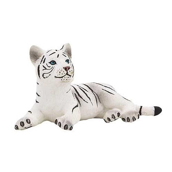 Тигренок белый, лежитДикая природа (Wildlife)<br>Тигренок белый, лежит<br>